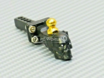 RC 1/10 Scale Accessories All Metal TOW HITCH Ball Mount SKULL Black
