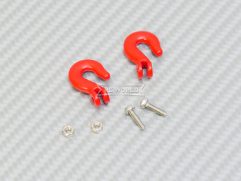 1/10 Scale Metal Hooks Coated (2PC) Red
