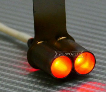 1/10 RC EXHAUST Backfire LED Effect Double METAL Muffler