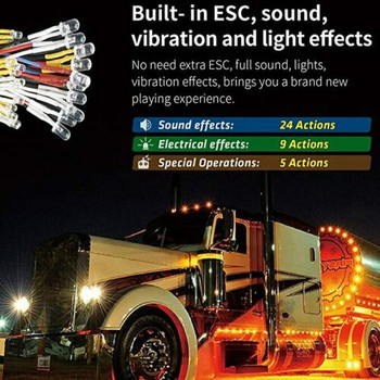 G.T Power 1/10 Truck LED + Engine Sounds + Vibration System Semi Trucks - PRO -