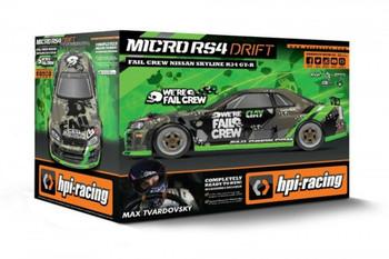 HPI 1/18 Micro NISSAN SKYLINE GTR RS4 4WD DRIFT Car -RTR-