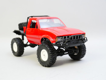RC 1/16 Truck TOYOTA Pick Up No Bed 4X4 RC Rock Crawler *RTR* Red