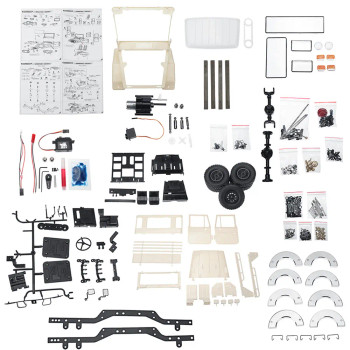 WPL 1/16 FJ40 Pick Up KIT c44  White