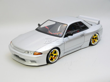 RC Car BODY Shell Nissan R32 GTR Wide Silver