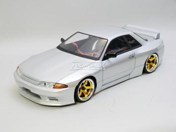 RC Car BODY Shell Nissan R32 GTR Wide Silver