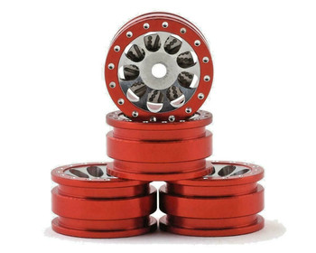 Orlandoo RC 1/32 Parts Aluminum WHEELS Rims (4PCS) -RED-
