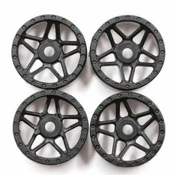 Orlandoo RC 1/32 Parts Plastic WHEELS Rims (4PCS) -BLACK- GA0009-B
