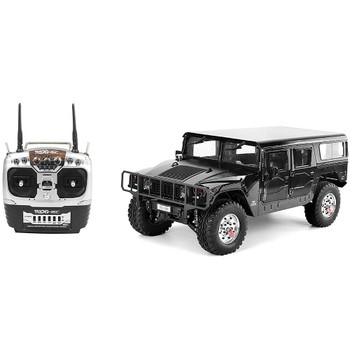 RC 1/10 HUMMER H1 4X4 Truck Full Option 2-Speed + Sounds + LED *RTR* BLACK