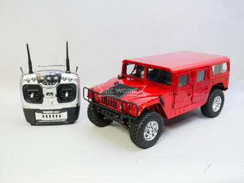 RC 1/10 HUMMER H1 *RTR* RED