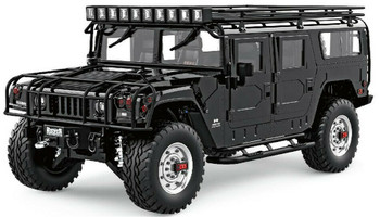 RC 1/10 HUMMER H1 4X4 SAFARI PACKAGE Truck Full Option 2-Speed + Sounds + LED *RTR*  BLACK