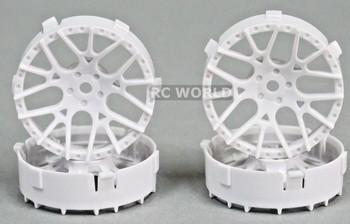 Tetsujin LYCORIS RC Car 1/10 Wheels GOLD Adjustable Offset 3-6-9mm -4 RIMS