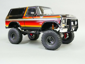traxxas bronco beadlock wheels black