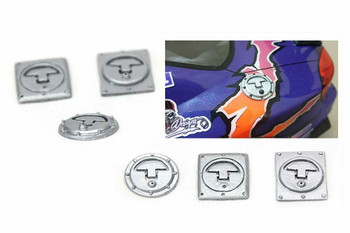 RC Scale FUEL CAP OUT Scale Body Accessories (3pcs) SILVER