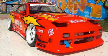 1/10 RC Car Body Shell NISSAN 180SX DRIFT BODY