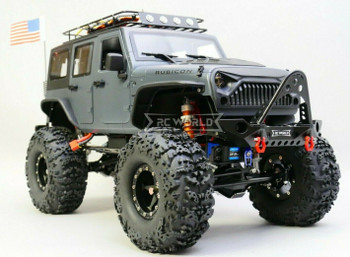 Custom Built 1/10 RC Jeep Wrangler Rubicon 2.2 Truck w/ LED 2- Speed 11.1V *RTR*