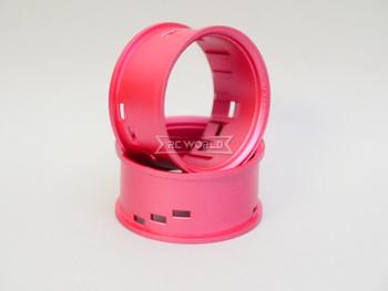 Tetsujin RC Car Wheels Lip Adjustable Offset 3/6/9mm -Passion Pink Lip- 4 pcs