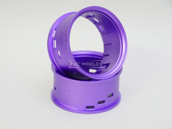 Tetsujin RC Car Wheels Lip Adjustable Offset 3/6/9mm -Passion Purple Lip- 4 pcs