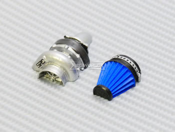 RC Extreme TURBO V2 CHARGER INTAKE Half Scale RC Body Accessories BLUE