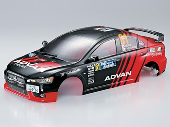 1/10 RC Car BODY Shell MITSUBISHI Lancer Evo X ADVAN