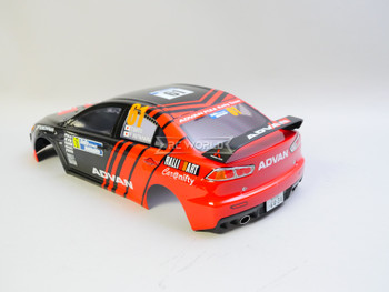 1/10 RC Car BODY Shell MITSUBISHI Lancer Evo X  ADVAN 190mm w/ Light Buckets *FINISHED*  #48002
