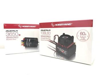 Hobby Wing Quicrun Combo Brushless 60A ESC + Motor 3650 Sensored 10.5T