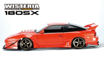Reve D 1/10 RC Car Body NISSAN 180sx Wisteria Wide Body DB-180SXW