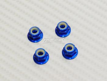 RC 1/10 Anodized Aluminum  M4 Nylon Center NUT CAP -4 pcs- Dark BLUE