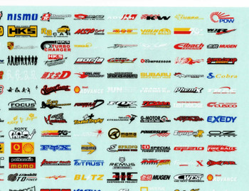 "RC Car Truck RACING Drift DECALS STICKERS Logos Sponsors 14""x9"""