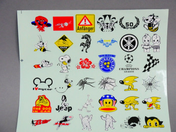 "RC Car Truck RACING Drift DECALS STICKERS Logos Sponsors 13""x9"""