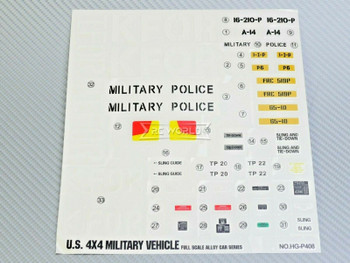"RC 1/10 Car Truck KFOR MILITARY POLICE Decals Stickers 7""x8"" Sheet"