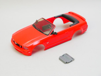 1/28 Mini Q Body FORD MUSTANG Convertible - RED