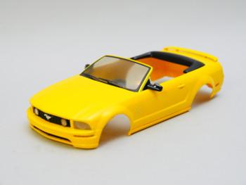 1/28 Mini Q Body FORD MUSTANG Convertible - YELLOW