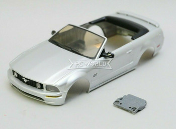 1/28 Mini Q Body FORD MUSTANG Convertible - SILVER