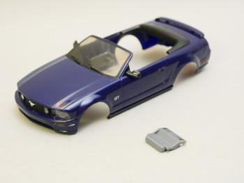 1/28 Mini Q Body FORD MUSTANG Convertible - BLUE