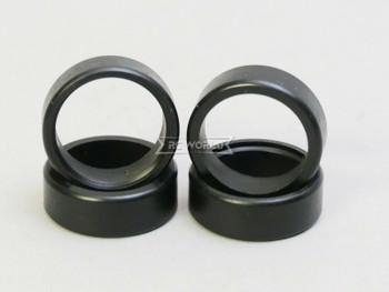 1/28 Mini Z DRIFT TIRES Set Black FLAT Surface (4PC)