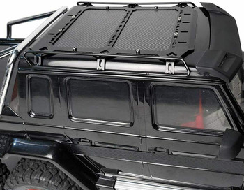"RC Truck ROOF RACK Metal W/ Carbon Fiber Lightweight Black 7"" X 6"""