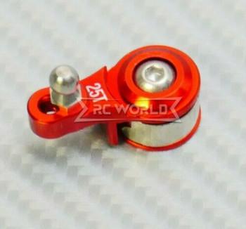RC 1/10 Aluminum Steering SERVO SAVER Horn 25T RED