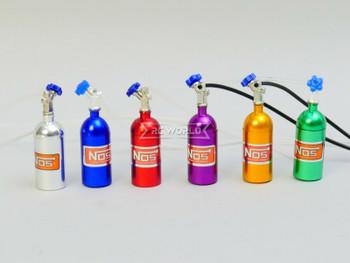 1/10 Scale Metal NITROUS NOS Bottle w/ MOUNT + LINE - BLUE -