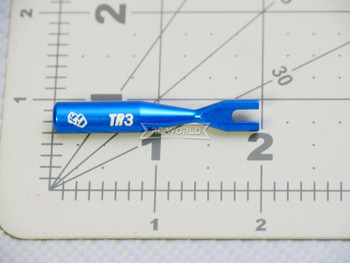 RC 3mm TR3 Aluminum Turnbuckle WRENCH Tool Tie Rod Adjuster -BLUE-