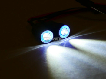 LED Lights BLUE Halo Angel Eyes 13mm Headlights White Center