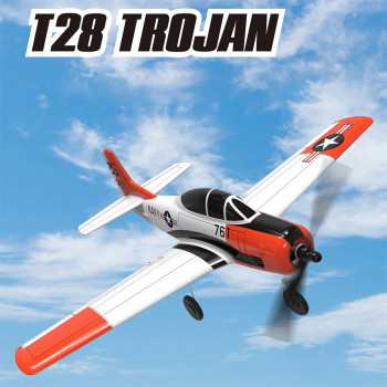 RC Airplane T-28 TROJAN 4 Channel Electric Plane W/ Gyro RTF