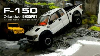 Orlandoo RC 1/32 Micro FORD RAPTOR 4X4 Crawler Truck #0H35P01 -KIT- FULL OPTION
