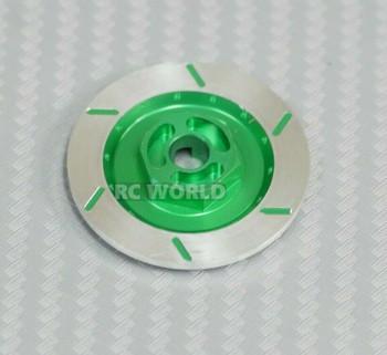1/10 Aluminum SCALE DISK ROTORS Scale Accessories (4) Pcs Set GREEN