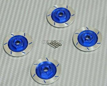 1/10 Aluminum SCALE DISK ROTORS Scale Accessories (4) Pcs Set BLUE