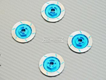 1/10 Aluminum SCALE DISK ROTORS Scale Accessories (4) Pcs Set - LIGHT BLUE -