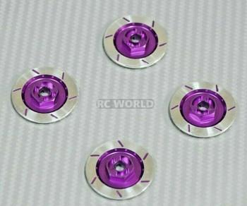 1/10 Aluminum SCALE DISK ROTORS Scale Accessories (4) Pcs Set - PURPLE