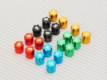 Rc Center Lock Nut METAL WHEEL CAPS M4 Lug Nut W/ Tool (4PCS) GREEN
