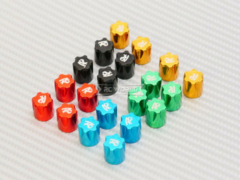 Rc Center Lock Nut METAL WHEEL CAPS M4 Lug Nut W/ Tool (4PCS) BLUE