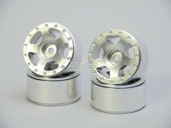 For Axial SCX24 1/24 METAL WHEELS RIMS Beadlock 27mm (4) pcs SILVER