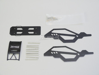For Axial SCX24 1/24 METAL BODY CAGE Carbon/Aluminum BLACK
